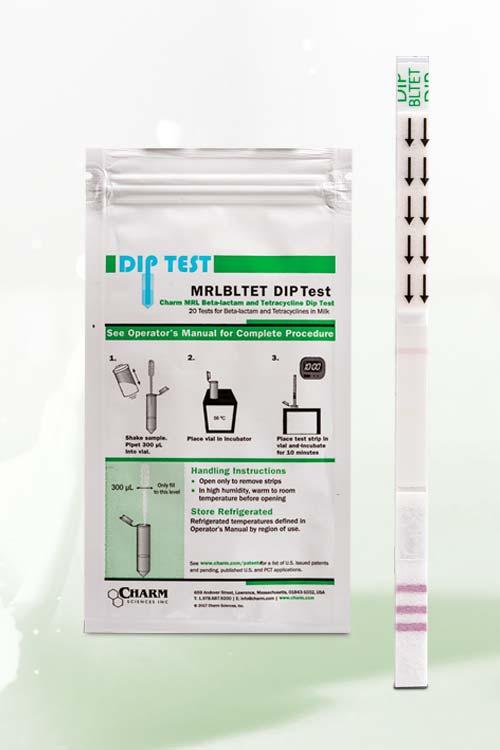 CHARM MRL Dip Test Betalattamico/Tetracicline 6 minuti