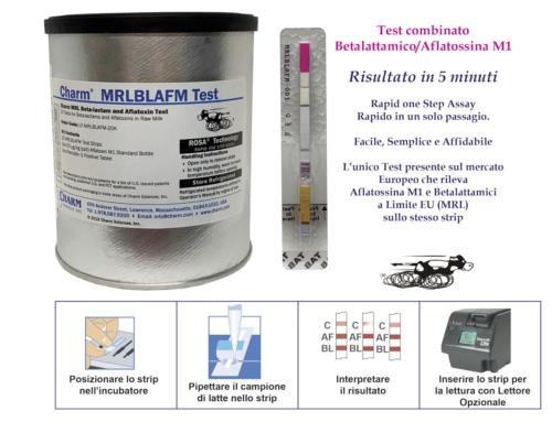 NOVITA' Assoluta !  Nuovo TEST rapido combinato  MRL Betalattamico / Aflatossina M1